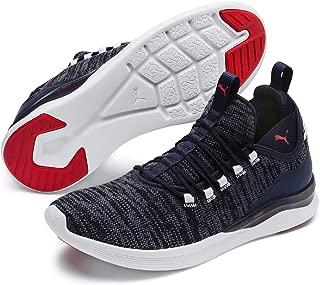 PUMA Men's Ignite Flash Daunt Sneaker, Peacoat-high Risk Red
