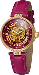 Forsining Women's Classic Design Analog Automatic Fashion Watch with Leather Strap