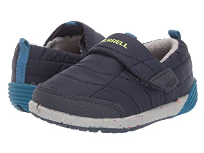 Merrell Kids Bare Steps Hut Moc (Toddler) (Navy) Boys Shoes