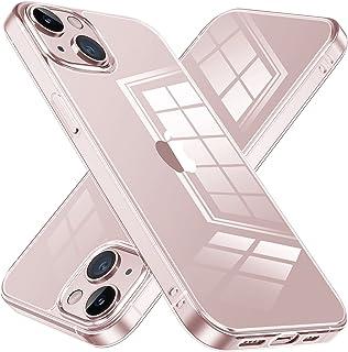 NIMASO ケース iPhone13mini 用 クリアカバー iphone13ミニ 対応 強化ガラス背面 耐黄変 耐衝撃 傷防止 ワイヤレス充電対応 NSC21I323