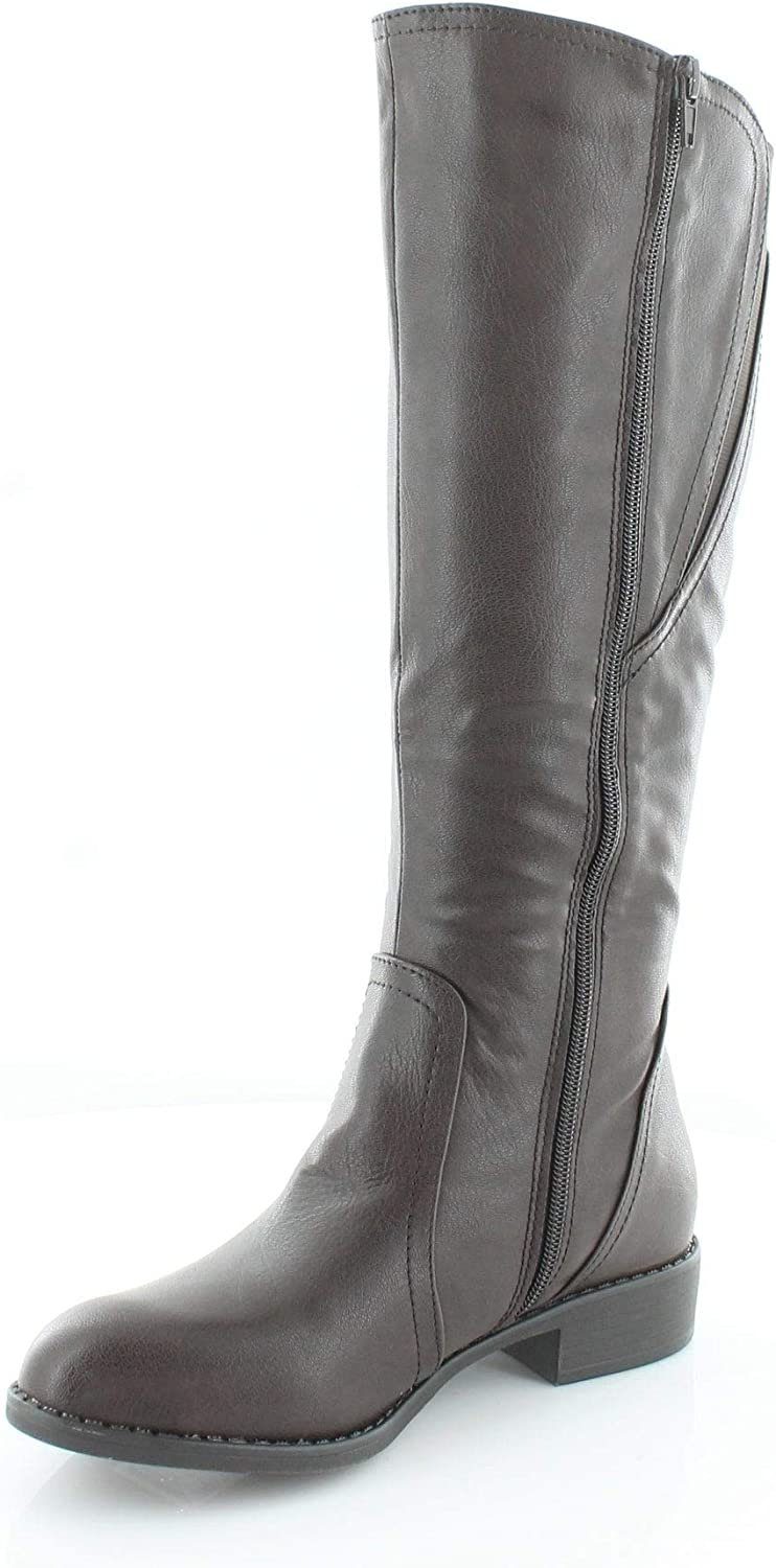 Style  Co. Womens Milah Almond Toe Mid-Calf Fashion Boots, Choc
