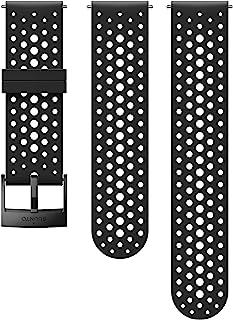 Suunto Watch Strap, 24mm, Silicone, Black- Athletic, S+M: 120-230 mm