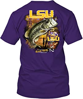 New World Graphics NCAA - Bass Fishing T Shirt - Officially Licensed Apparel