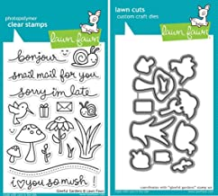 Lawn Fawn Gleeful Gardens Clear Photopolymer Stamps LF799 Bundle with Coordinating Lawn Cuts Dies LF800