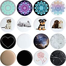 16 Swappable Covers Compatible with Original PopSockets (PopSocket Sold Separately) Put a Different Design On Your Pop Socket in 12 Seconds Removable Replacement Pack of 16 Tops, Caps, Disc Only