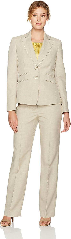 LeSuit Womens Glazed Melange 2 Button Notch Lapel Pant Suit W Cami Suit Pants Set