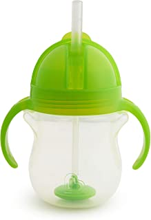 Munchkin Any Angle Click Lock Weighted Straw Trainer Cup, Green, 7oz
