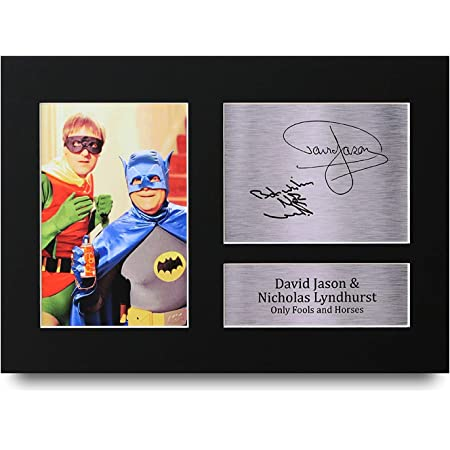 HWC Trading David Jason and Nicholas Lyndhurst Gift Signed A4 Printed Autograph Only Fools and Horses Gifts Del Boy Rodney Trotter Print Photo Picture Display
