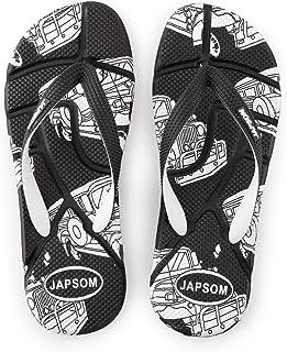 Men's Summer Flip Flops, Indoor And Outdoor Massage Sandals Non-Slip Slippers Toe Post Thong Platform Wedge Beach Shoes,Black,41