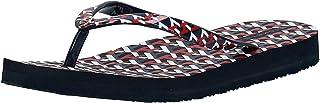 Tommy Hilfiger TH MONOGRAM FLAT BEACH, Women's Fashion Sandals, Blue