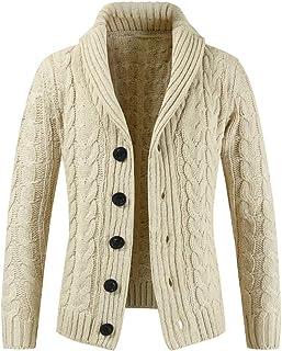 MODOQO Men's Knit Sweater Long Sleeve Button Sweatshirt Jacket Coat Outwear Top