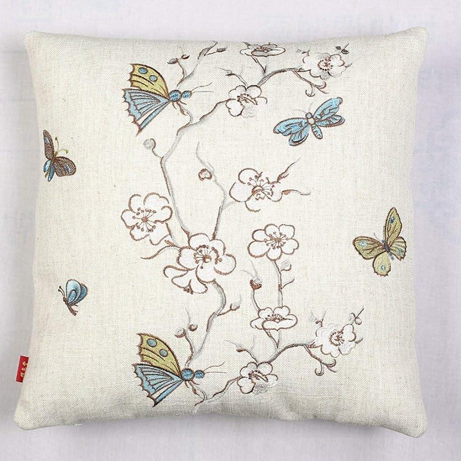 死傷者比類なき最も早いJIANHEADS Throwillowovershinese刺繍枕ソファバッククッションオフィス腰椎パッドの上 (Color : F, サイズ : 45x45cm(18x18inch))