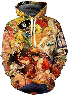 happyheart 2018 3D Printed Anime One Piece Hoodie Men/Women Casual Outerwear Sweatshirt Tops S-5XL Coat