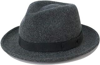 ミドル ブリム ウール フェルトハット 中折れハット 高級 帽子 M L LL サイズ調節 帽子通販 無料ラッピング プレゼント Bebro ビブロ EK527