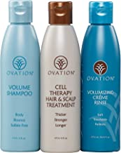 Ovation Volume Cell Therapy System - Salon Quality - Get Stronger, Fuller & Healthier Looking Hair with Natural Ingredients. Includes Volume Therapy Treatment Shampoo and Volumizing Creme Rinse