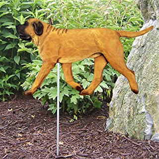 Ky & Co YesKela Mastiff Outdoor Garden Dog Sign Hand Painted Figure Apricot