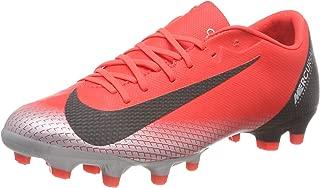 NIKE Mercurial Vapor 12 Academy CR7 MG Soccer Cleat (Bright Crimson) (Men's 9.5/Women's 11)