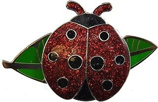 Navika Ladybug Glitzy Ball Marker with Leaf Kicks Candy Shoe Ornament