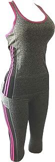 Women Gym Yoga Workout Activewear Set 2 Pieces Top+Leggings Set Sportswear