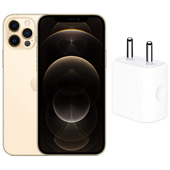 New Apple iPhone 12 Pro (512GB) - Gold with Apple 20W USB-C Power Adapter