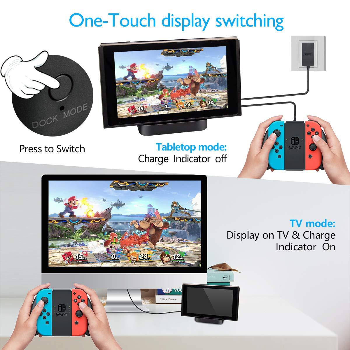 GuliKit Switch Dock Set Base de Carga Portatil, USB C a HDMI TV Adaptador para Nintendo Switch, PD Carga USB Hub Compatible con Macbook Pro iPad Pro,Samsung Galaxy DeX Huawei: Amazon.es: Videojuegos