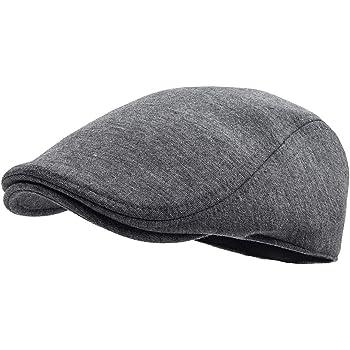 FEINION Men Cotton Newsboy Cap Soft Fit Cabbie Hat