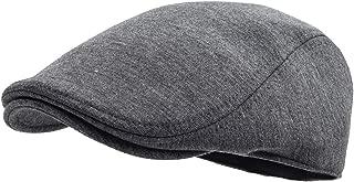 Men Cotton Newsboy Cap Soft Fit Cabbie Hat