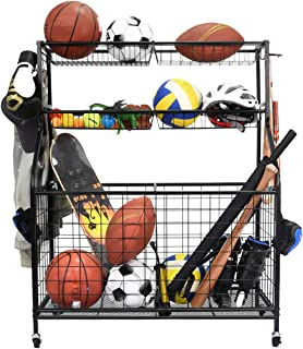 Kinghouse Garage Sports Equipment Organizer, Ball Storage Rack, Garage Ball Storage, Sports Gear Storage, Garage Organizer...