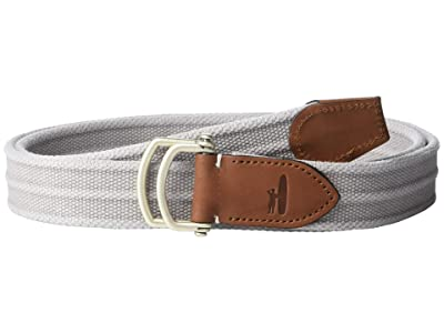 johnnie-O Brentwood Canvas Web Belt (Light Gray) Men