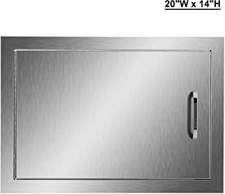 CO-Z Outdoor Kitchen Doors, 304 Brushed Stainless Steel Single Access Doors for Outdoor Kitchen, Commercial BBQ Island, Grilling Station, Outside Cabinet, Barbeque Grill, Built-in (20