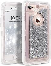 Dexnor iPhone 8 Case, iPhone 7 Case, iPhone 6s Case, Glitter 3D Bling Sparkle Flowing Liquid Case for Girls Transparent 3 ...