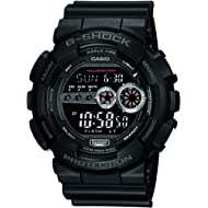 Men's GD100-1BCR G-Shock X-Large Black Multi-Functional Digital Sport W...