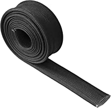 Fiberglass Heat Wire Shield Sleeve Adjustable Heat High Temp Shield Black Colour 5FT-16MM(3/5