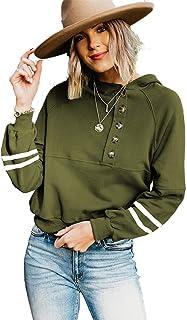 PKYGXZ Sudadera con Capucha con Costura para Mujer, Sudadera con Capucha, jerséis Casuales, Camiseta Suelta de Manga Larga...