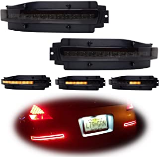 iJDMTOY Smoked Lens Rear Bumper Sequential LED Lamp Assy For 03-09 Nissan 350z, Sequential Flashing LED Turn Signal Lights w/Backup Reverse & Tail/Brake Lights