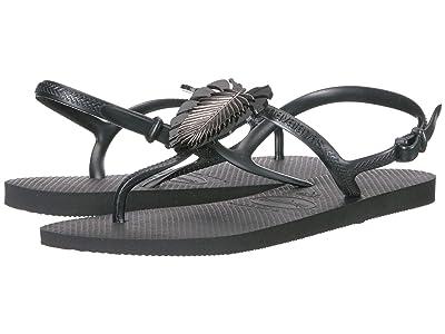 Havaianas Freedom Metal Pin Sandal (Black) Women