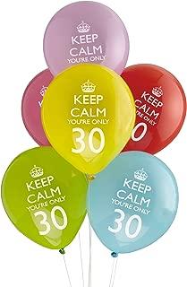 Compleanno Festa Decorazioni Party Leva Star 6pz Palloncini 20 Anni Multicolor