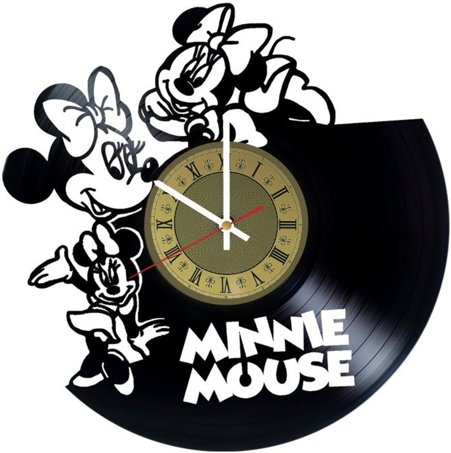 Minnie Mouse Vinyl Wall Clock Disney Great Gift Men, Women, Kids, Girls Boys, Birthday, Christmas Beautiful Home Decor - Unique Design That Made Out Vinyl LP Record