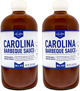 Lillie's Q - Carolina Barbeque Sauce, Gourmet Carolina Sauce, Tangy BBQ Sauce with Tomato Vinegar, All-Natural Ingredients, Made with Gluten-Free Ingredients (20 oz, 2-Pack)