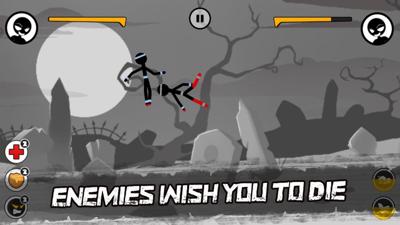 Sticked Man Fighting - Cartoon War Games