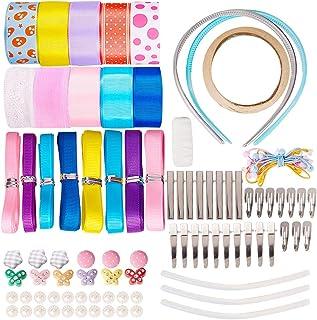 SUNNYCLUE 42 Sets Alligator Hair Clip Ropes Bands Kit Ribbon Hair Bows Hairpins Non-Slip Hair Barrettes Hair Accessories S...