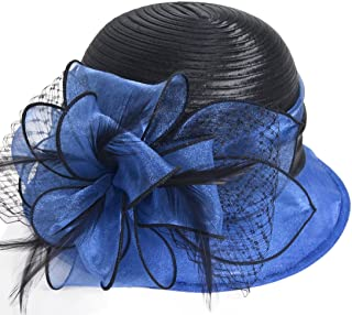 Kentucky Derby Dress Church Cloche Hat Sweet Cute Floral Bucket Hat