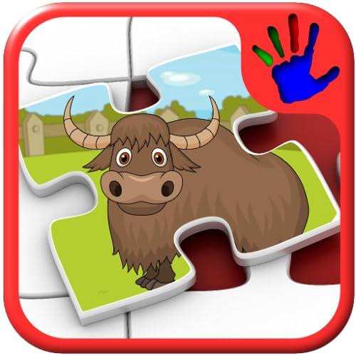 Los niños formas de rompecabezas animales Zoo - juego educativo para niños jóvenes enseña que empareja habilidades adecuadas para niños pequeños y pre escolar de niños y niñas 2 +