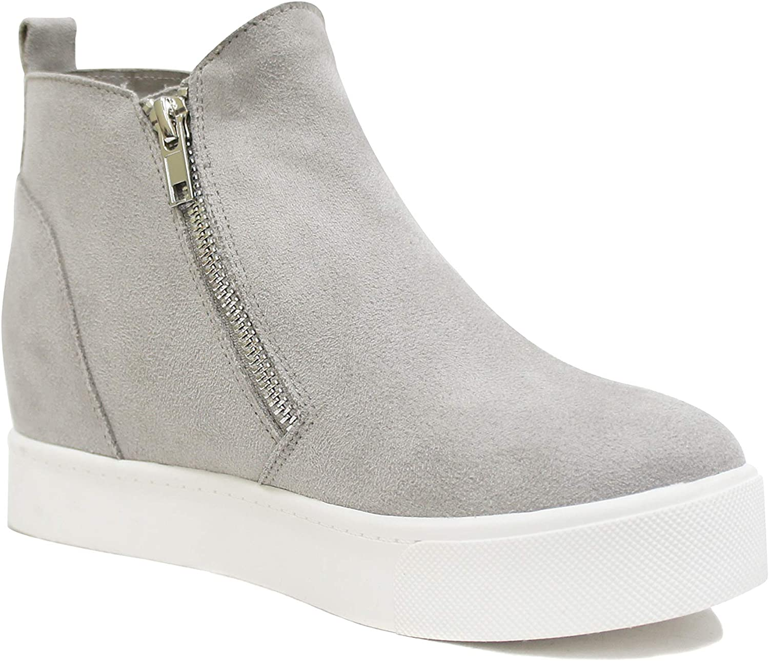 Soda Taylor Hidden Fahsion Wedge Ranking TOP19 Shoes Sneaker Indianapolis Mall Zipper Side