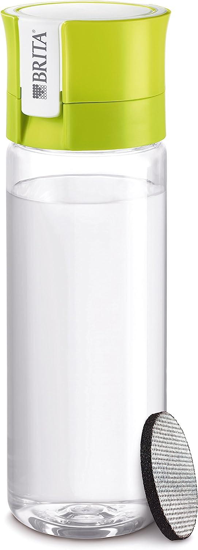 BRITA 4006387061265 Fill/&Go Bouteille Filtrante Plastique Vert 7,2 x 7,8 x 24,5 cm