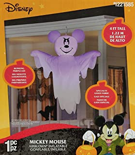 Gemmy 4' Airblown Inflatable Hanging Disney Mickey Mouse as Ghost Yard Decoration 223254