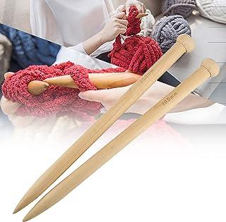 Aiguilles à tricoter, Majome 2 pièces / ensemble 20mm aiguille à tricoter en bois long fil tricoté ensemble accessoires po...