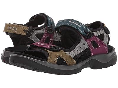 ECCO Sport Offroad Sandal (Petrol/Aubergine/Fir Green) Women