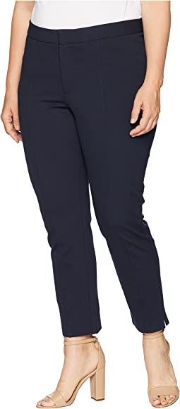 Plus Size Ponte - Ankle Pants