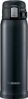 象印マホービン(ZOJIRUSHI) 水筒 ステンレス マグ ボトル 直飲み 軽量 保冷 保温 ワンタッチ オープン タイプ 軽量 コンパクト 480ml シルキーブラック SM-SD48-BC